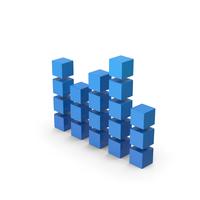 Symbol Graph Cube Chart Blue PNG & PSD Images