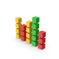 Symbol Graph Cube Chart Colored PNG & PSD Images