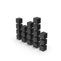 Symbol Graph Cube Chart Black PNG & PSD Images