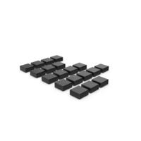Black Symbol Graph Cube Chart PNG & PSD Images