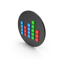 Graph Cube Chart Icon PNG & PSD Images