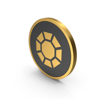 Gold Icon Diamond / Octagon PNG & PSD Images