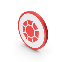 Icon Diamond / Octagon Red PNG & PSD Images