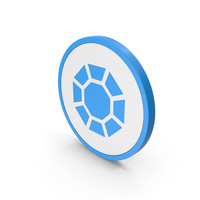 Icon Diamond / Octagon Blue PNG & PSD Images