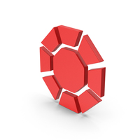 Symbol Diamond / Octagon Red PNG & PSD Images