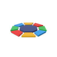 Multicolored Octagon Symbol PNG & PSD Images