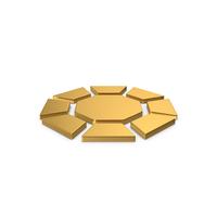 Gold Symbol Diamond / Octagon PNG & PSD Images
