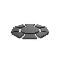Black Symbol Diamond / Octagon PNG & PSD Images