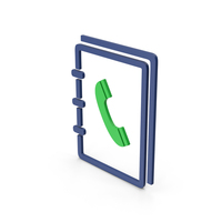 Symbol Phone Book Green PNG & PSD Images