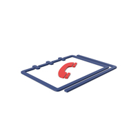 Red Symbol Phone Book PNG & PSD Images