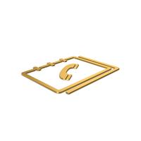 Gold Symbol Phone Book PNG & PSD Images