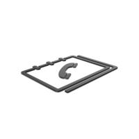Black Symbol Phone Book PNG & PSD Images