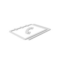 Phone Book Symbol PNG & PSD Images