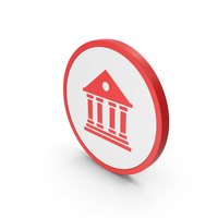 Icon Architecture / Building Red PNG & PSD Images