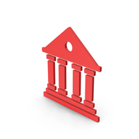 Symbol Architecture / Building Red PNG & PSD Images
