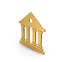 Symbol Architecture / Building Gold PNG & PSD Images