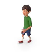 Cartoony Boy Walking PNG & PSD Images
