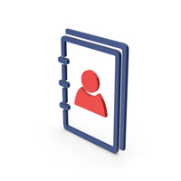 Symbol Address Book Colored PNG & PSD Images