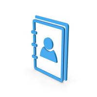 Symbol Address Book Blue PNG & PSD Images