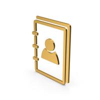 Symbol Address Book Gold PNG & PSD Images