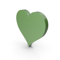 Heart Green Icon PNG & PSD Images