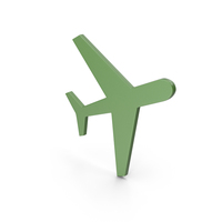 Aeroplane Green Icon PNG & PSD Images