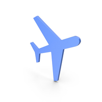 Aeroplane Blue Icon PNG & PSD Images
