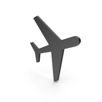 Aeroplane Black Icon PNG & PSD Images