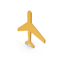 Aeroplane Yellow Icon PNG & PSD Images