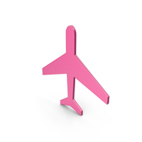 Aeroplane Pink Icon PNG & PSD Images