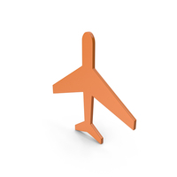 Aeroplane Orange Icon PNG & PSD Images