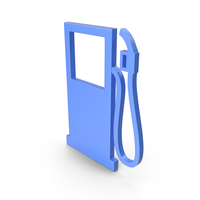 Gas Station Blue Icon PNG & PSD Images