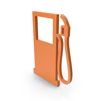 Gas Station Orange Icon PNG & PSD Images