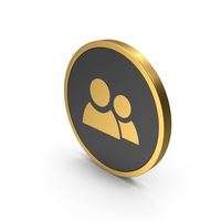 Gold Icon People PNG & PSD Images