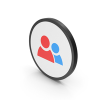 Icon People Red Blue PNG & PSD Images
