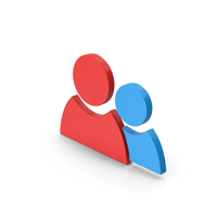 Symbol People Red Blue PNG & PSD Images