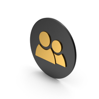 People Gold Icon PNG & PSD Images