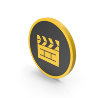 Icon Cinema Movie Yellow PNG & PSD Images