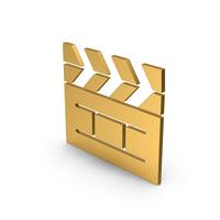 Symbol Cinema Movie Gold PNG & PSD Images