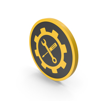 Icon Tools Yellow PNG & PSD Images