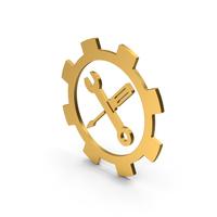 Symbol Tools Gold PNG & PSD Images