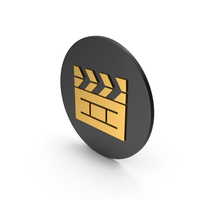Cinema Movie Gold Icon PNG & PSD Images