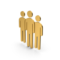 Symbol People Group Gold PNG & PSD Images