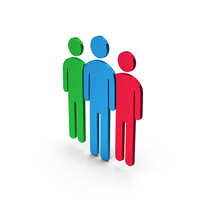 Symbol People Group Colored Metallic PNG & PSD Images