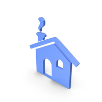 House Blue Icon PNG & PSD Images
