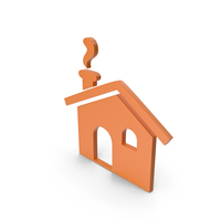 House Orange Icon PNG & PSD Images
