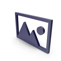 Picture Dark Blue Icon PNG & PSD Images