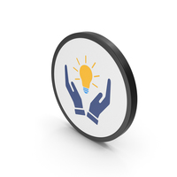 Icon Hands Holding Light Bulb PNG & PSD Images
