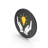 Hands Holding Light Bulb Icon PNG & PSD Images