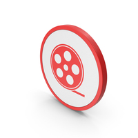 Icon Film Roll Red PNG & PSD Images